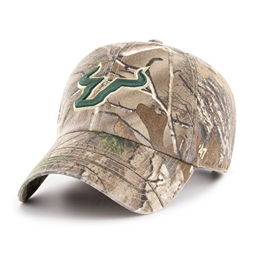 '47 NCAA South Florida Bulls Adult Clean Up Realtree Adjustable Hat, One Size, Realtree Camo
