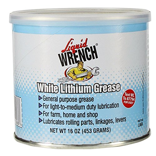 Liquid Wrench L666-12PK White Lithium Grease - 16 oz, (Case of 12) ()