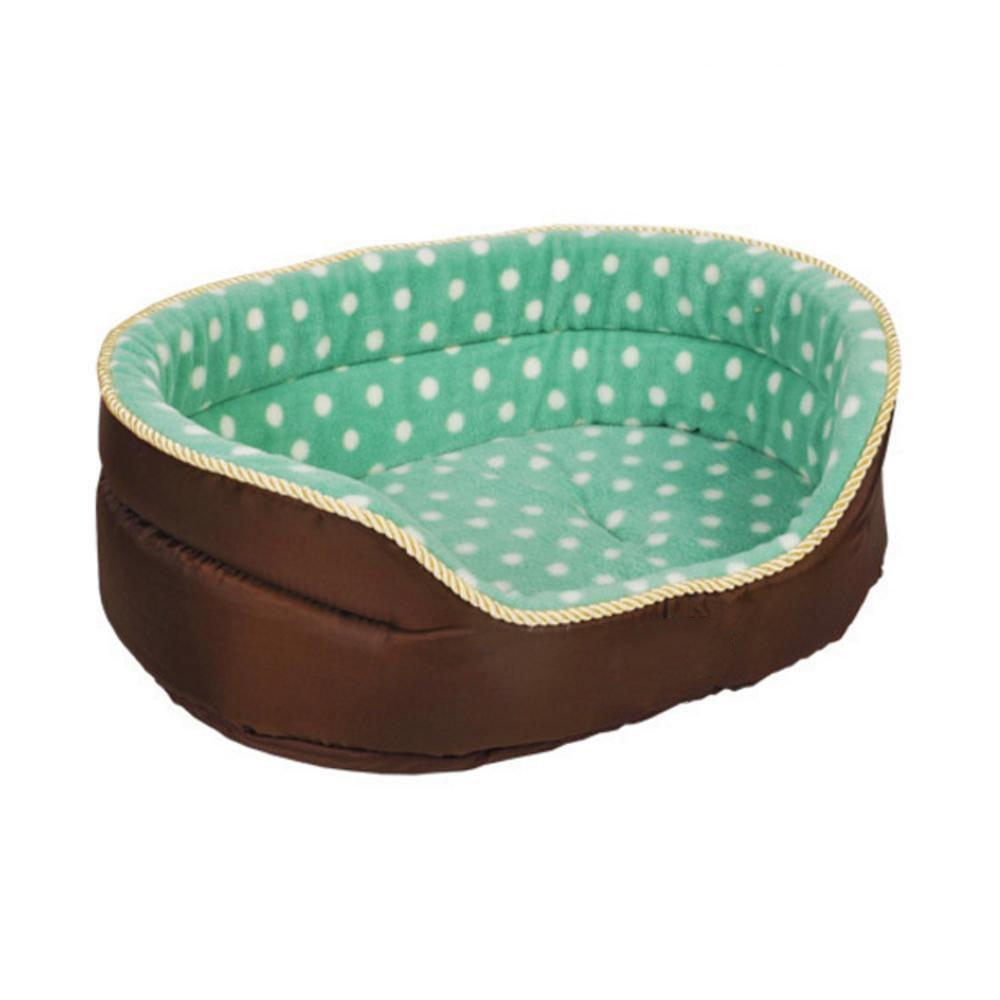 C L C L Weiwei Dog Bed Kennel Coffee Wave Point pet nest Two-Sided pet Bed Shu Cotton Velvet Polar Fleece face Oxford Noodles