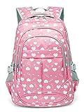 Sweetheart School Backpacks for Girls Children Kids Bookbags (Pink)