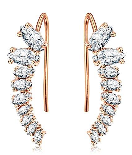 Allencoco Crawler Earrings 9 Stars Hypoallergenic