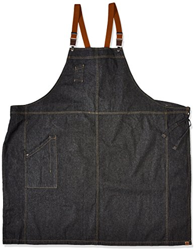 Chef Works Men's Berkeley Chefs Bib Apron, Black, One Size