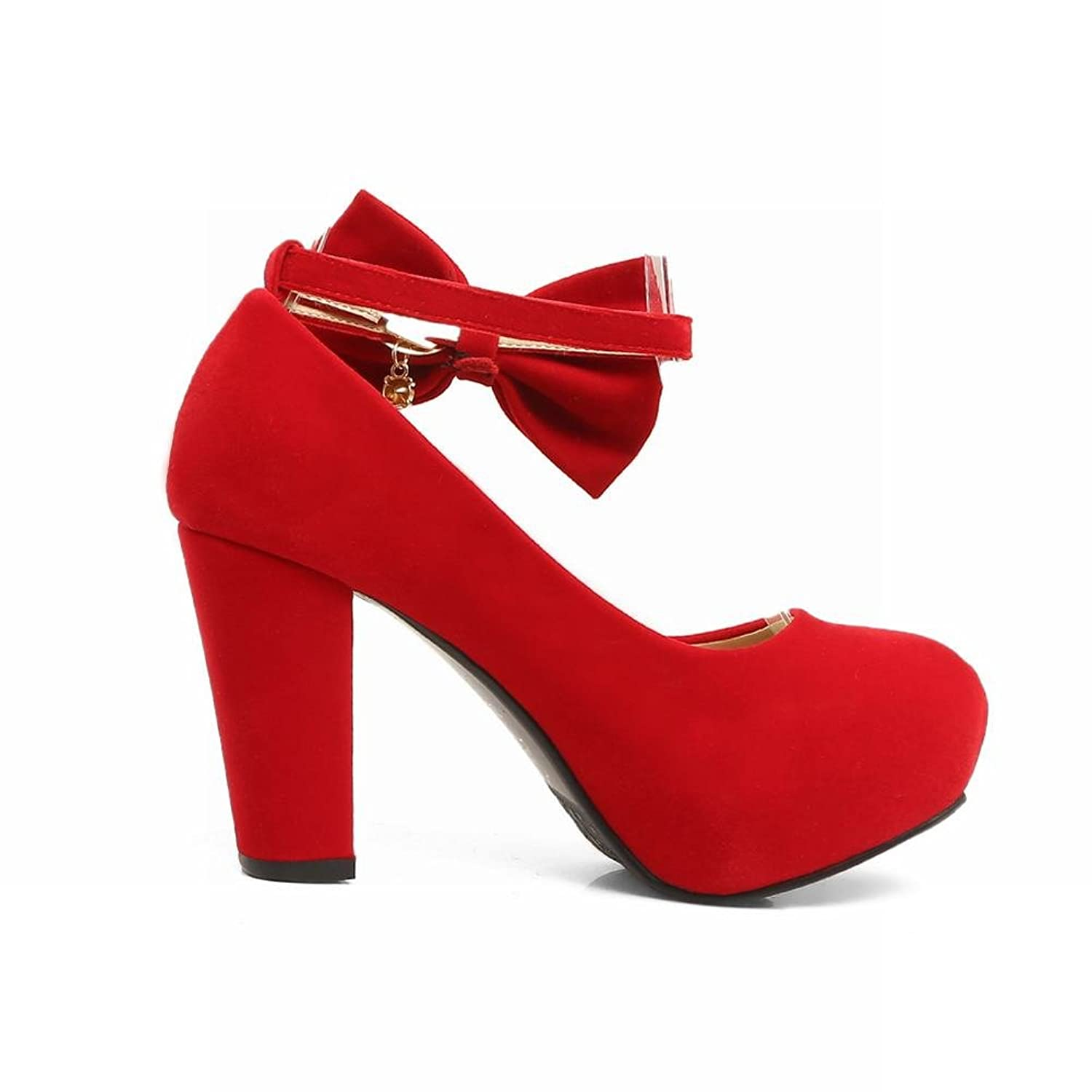 Mee Shoes Women's Sweet Buckle Bow High Heel Court Shoes: Amazon.co.uk:  Shoes & Bags