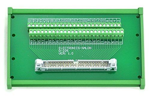 Electronics-Salon IDC-50 DIN Rail Mounted Interface Module, Breakout Board, Terminal Block.
