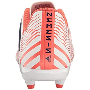 adidas Performance Women's Nemeziz 17.4 FG W Soccer Shoe, White/Mystery Ink/Easy Coral, 9 Medium US
