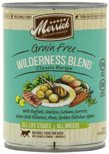 Merrick Wilderness Blend Dog Food 13.2 oz (12 Count Case), My Pet Supplies
