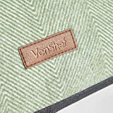 VonShef Large Fleece Picnic Blankets with Faux
