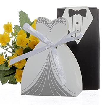 Amazoncom cnomg 100pcs Party Wedding Favor Dress Tuxedo Bride