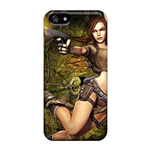 Tpu Case Cover Compatible For Iphone 5/5s/ Hot Case/ Tomb Raider