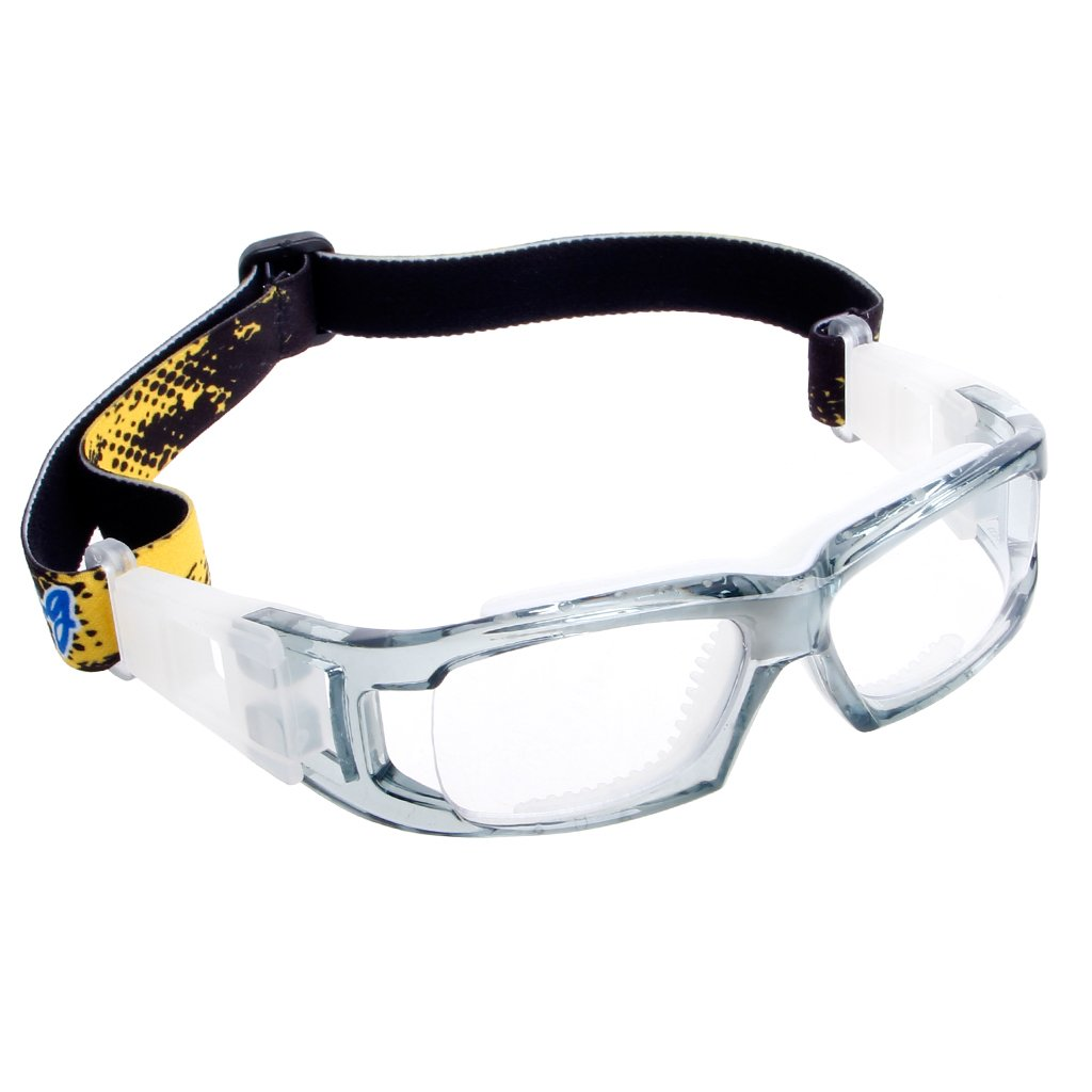 YDZN Sports ProtectiveGlassesSafetyGoggles For Basketball Football Cycling PC Outdoor (Transparent+Gray)