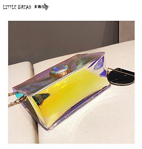 Hombro Bag De Nuevo Bolso GWQGZ Cadena Satchel Transparente Transparente Gelatina De De De Personalidad De Moda Bolso w4Afq4n1x