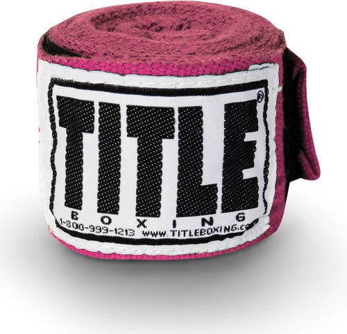 TITLE Boxing Mexican Style Junior Hand Wraps , Pink