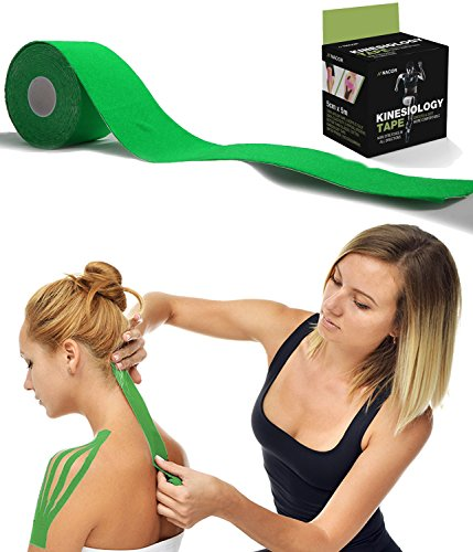 Spring Trainer 2 Cap (Kinesiology Tape for Athletes - Therapeutic Sports Tape for Injury and Performance - Ideal for Knee, Shoulder, Elbow, Ankle, Back, Neck Pain and Much More - 2 inches x 16.4 feet (Green))