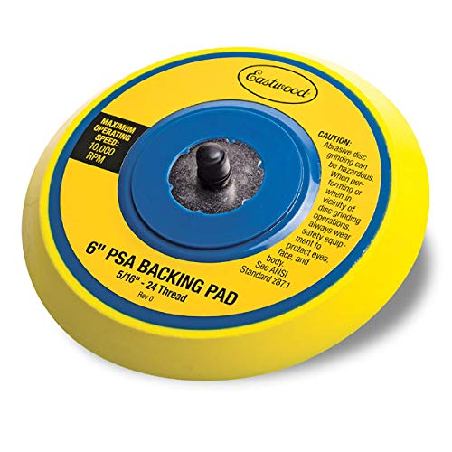 Eastwood 6 in. Psa Backing Pad Vinyl Face Psa Sanding Pads For Dual Action Air Sander 10000 Rpm