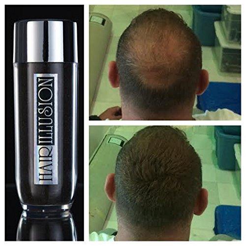 Illusion de cheveux Perte de cheveux haut de gamme Concealer New Style! 100% réel fibres de cheveux humains pour hommes et femmes (26,5 g Brown)