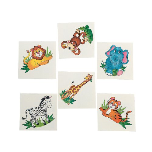 Fun Express Zoo Animal Tattoos