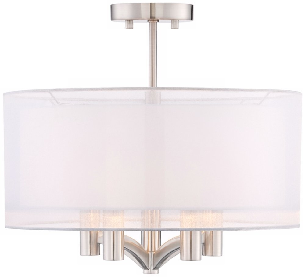 home depot nickel lights p ceiling the light homeselects saturn ceilings led brushed flushmount