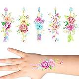 Groovi - Watercolour Rose Arrows Tattoo Set (30 pack) - TATT-216