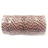 Wrapables 12-Ply Cotton Baker's Twine, 110-Yard, Black and Orange