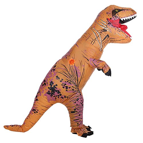 Funny Costumes From Tv Shows (Unisex Child's T-Rex Dinosaur Inflatable Costume Blowup Fancy Cosplay Outfit)