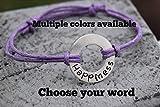 Washer word adjustable bracelet, Christmas gift bracelet, inspirational bracelets, word bracelet for women, word bracelet for men