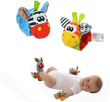 4PCS Baby Wrist Rattle and Foot Rattles Finder Socks Set  Developmental  Fun Toy