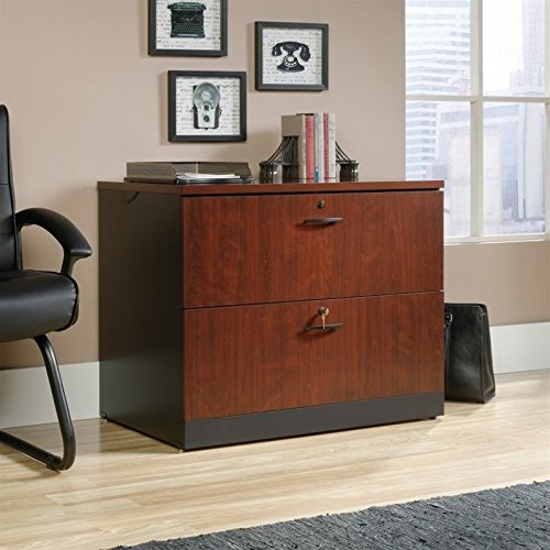 Sauder Via 2 Drawer File Cabinet in Classic Cherry by Sauder