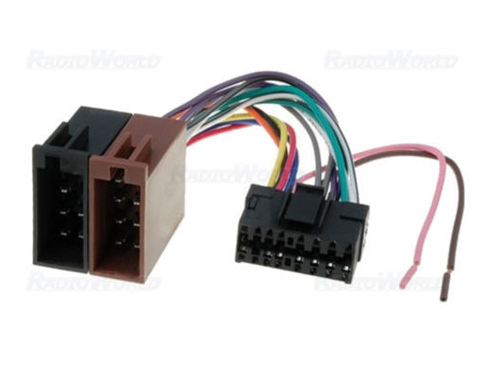 5147oWHTN9L._SL1000_ iso wiring harness connector adaptor for sony 16 pin amazon co uk sony wiring harness at gsmportal.co