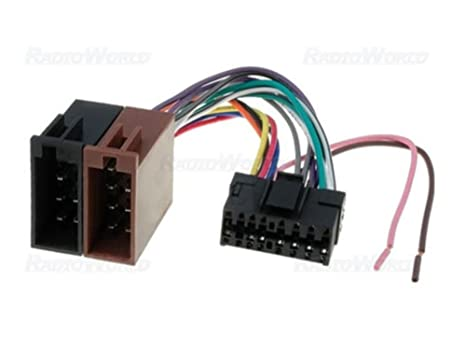 ISO Wiring Harness Connector Adaptor For SONY 16 Pin: Amazon ... on