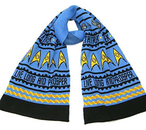 Live Long and Prosper Knitted Scarf - Official Star Trek Spock Scarf by LOVARZI