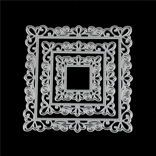 WWahuayuan 1 Set Picture Frame Cutting Dies Stencils Frame Die Cuts Metal Template Mould DIY Scrapbook Card Making Decoration Tool Gift Photo Album Embossing Scrapbooking Paper Card Decor Craft