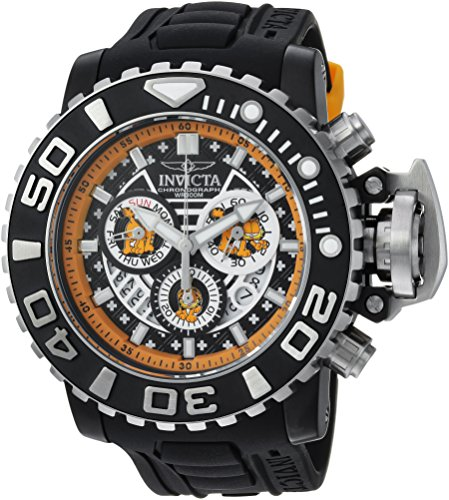 Invicta Men's 'Garfield' Quartz Stainless Steel and Polyu...