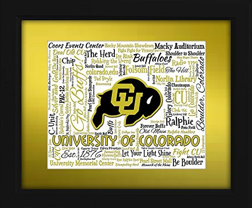 University of Colorado 16x20 Art Piece - Beautifully matted and framed behind glass