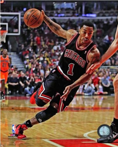 NBA Derrick Rose Chicago Bulls 2013-2014 Action Photo 8x10