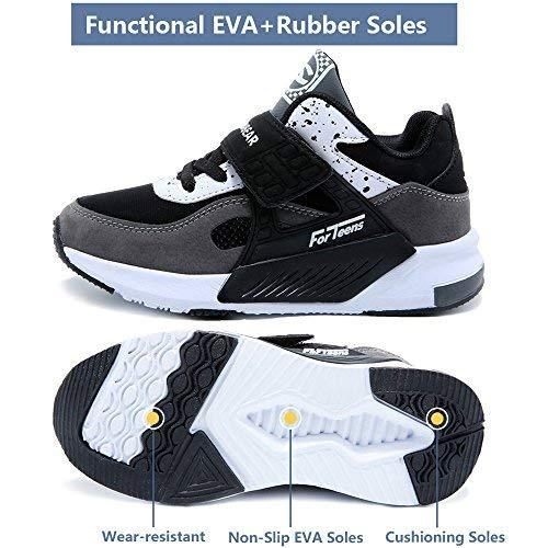 Grigio,28EU=29CN Sneakers Bambini Scarpe da Corsa Ragazzo Ragazza al Coperto Sportive Fuori dalla Porta Ginnastica Basse Scuola
