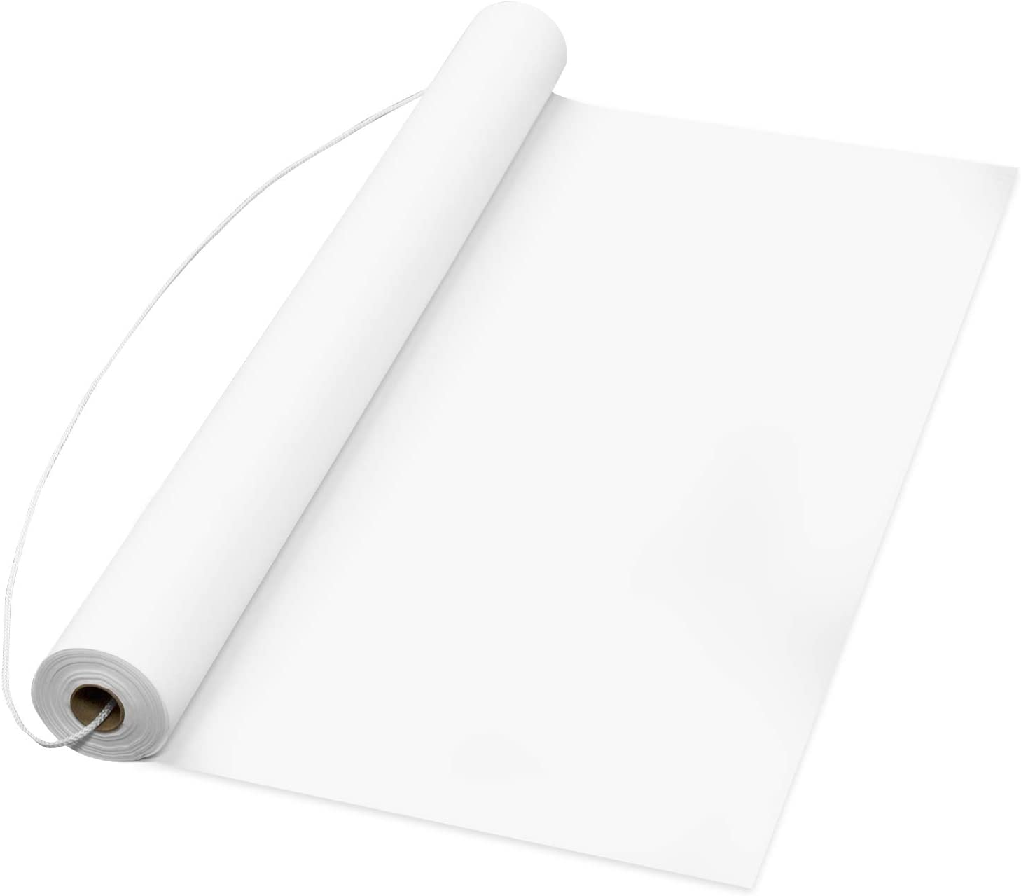 Party Essentials Plastic Disposable Aisle Runner for Wedding Ceremony Events Indoor and Outdoor on Floor Tile Grass Carpet, 50 x 3 Feet, White