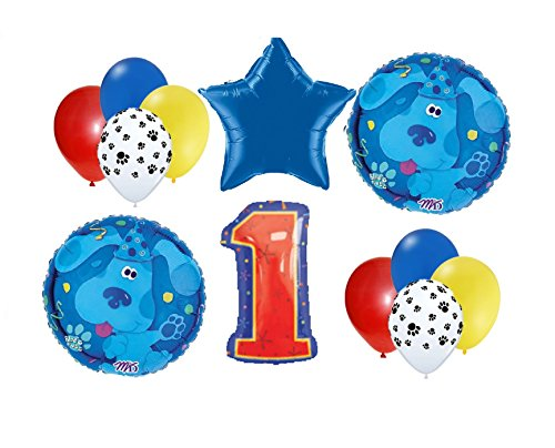 Blues Clues birthday balloons FIRST 1st party decorations supplies mylar latex Blues Clues Party Decorations