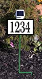 Comfort House Solar Lighted Address Sign - Lawn Mounted House Number Plaque CRSS1006