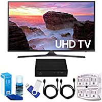 Samsung UN43MU6300 43-Inch 4K Ultra HD Smart LED TV (2017 Model) Plus Terk Cut-the-Cord HD Digital TV Tuner and Recorder 16GB Hook-Up Bundle