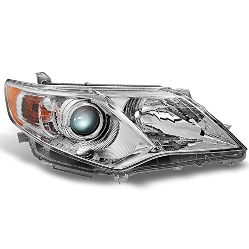For Toyota Camry L | LE | XLE | Hybrid Chrome Clear Projector Headlight Passenger Right Side Replacement ()