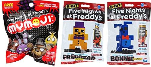 Scary Clown Jack In The Box (Five Nights At Freddy's 8-Bit Freddy 2-Pack Construction Set Bonnie & McFarlane Fredbear Plush Series 2 + Mymoji Blind Bag Mystery Head)