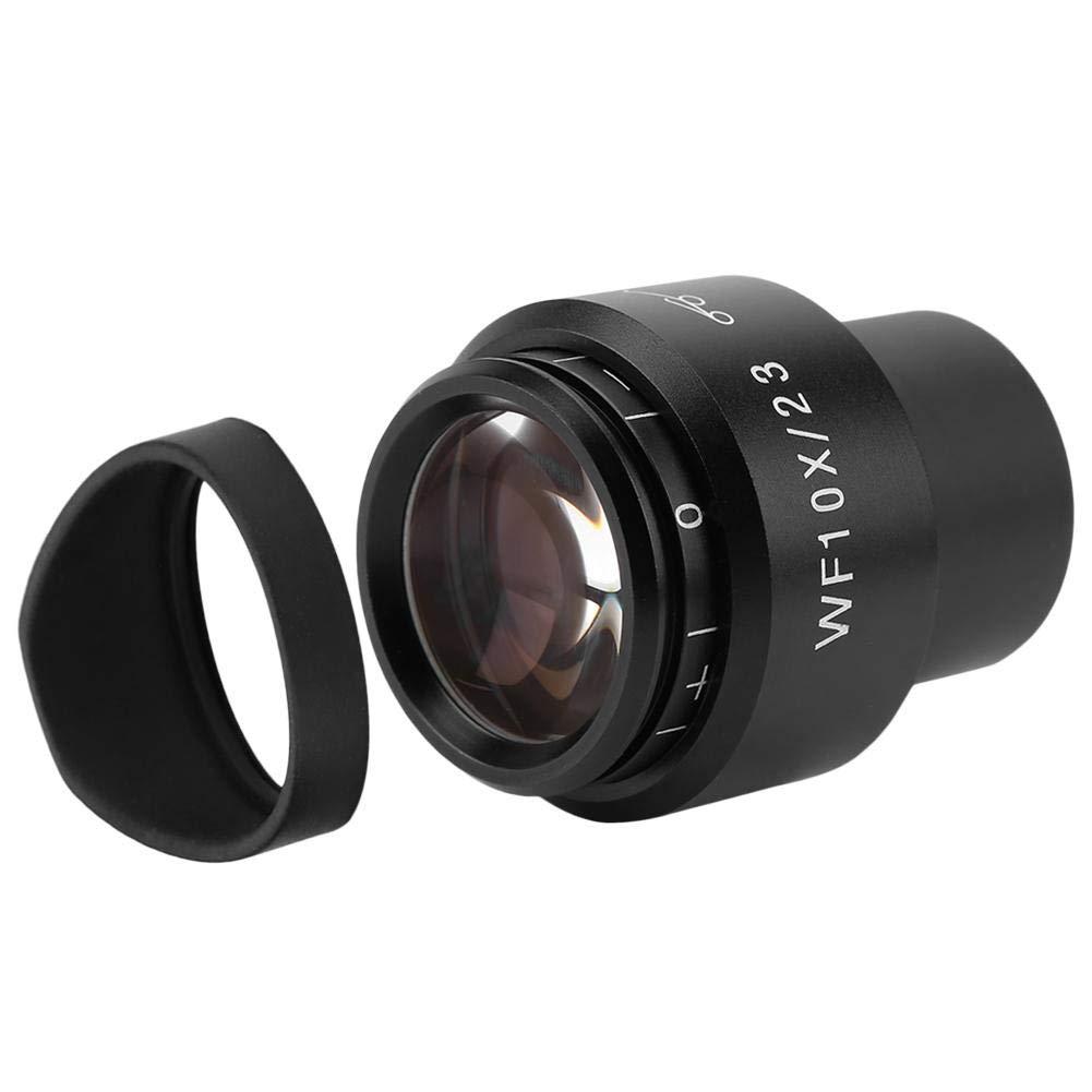 /ángulo de visi/ón ajustable, 30 mm Microscopio ocular gran angular 23 Akozon GWF004 WF10X