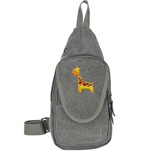 ute Giraffe Crossbody Chest Bag Canvas Travel Backpack For Men & Women Shoulder Or Crossbody (William Joseph Fly Vest)
