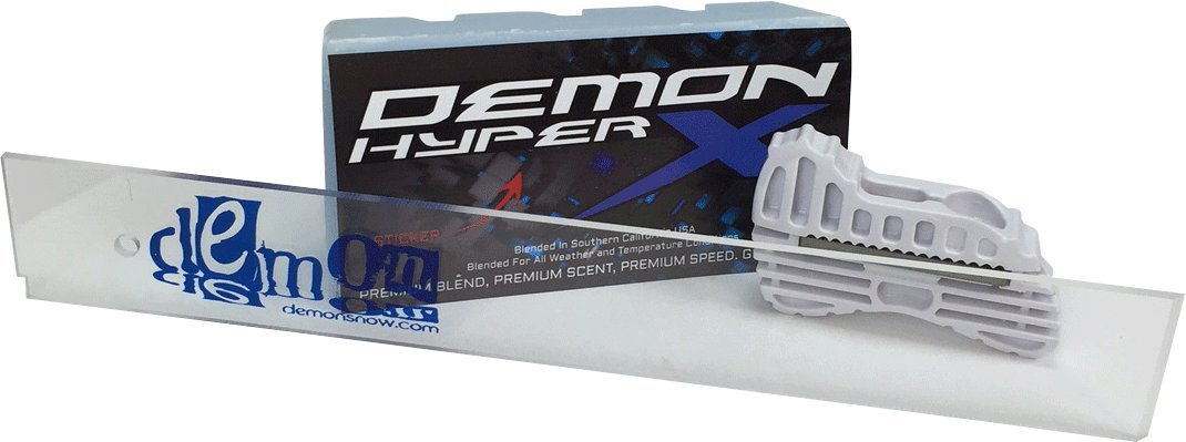Demon Hyper X Universal 1 LB. Big Block Wax + 14 Inch Wax Scrapper + Edge Tuner by Demon
