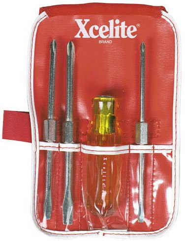 Xcelite CK3 4 Piece Standard and Phillips Screwdriver Pocket Roll Kit by Apex Tool Group