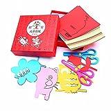 Minibaby 120 Pages Boys Girls Children Scissor Skills Activity Book with Pair of Child-Safe Scissors