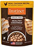 Instinct Healthy Cravings Grain Free Real Chicken Recipe Natural Wet Dog Food Topper By Nature'S Variety, 3 Oz. Pouches