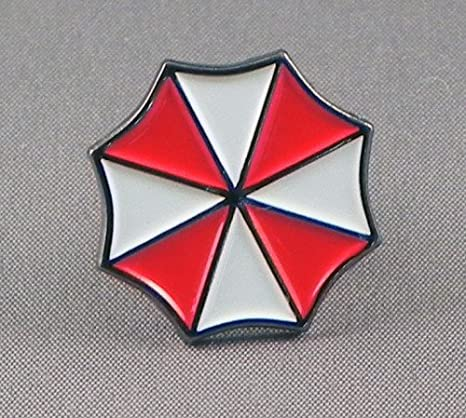 (20 mm) Metal esmalte Pin Badge Resident Evil Umbrella Corporation (Umbrella Corp)