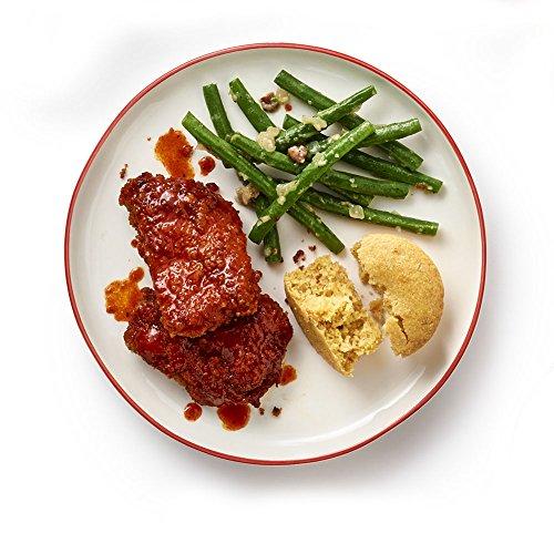 Tyson Tastemakers  Nashville Hot   Crispy Chicken With Peach Cornbread And Garlicky Green Beans Meal Kit  Serves 2