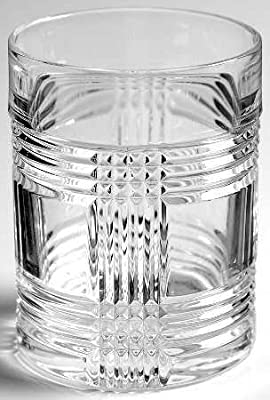 Ralph Lauren Glen Plaid Double Old Fashioned Single Crystal Glass 11.1 Ounces Made in Germany